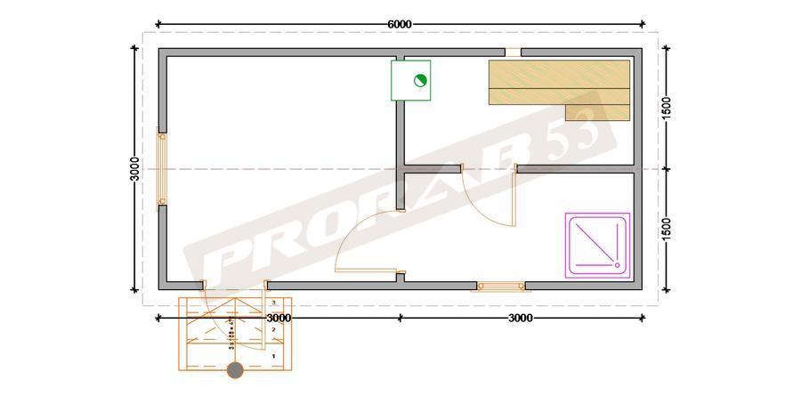 Отличный вариант бани 3х6 строительство бани из профилированного бруса компания Прораб
